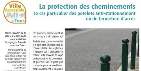 Le potelet, mobilier urbain indispensable à la protection des cheminements.