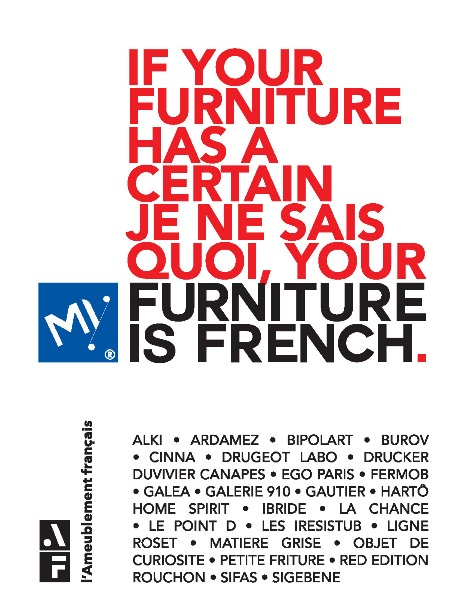 L'Ameublement français - Maison&Objet 2018 - Partenariat May Furniture is french